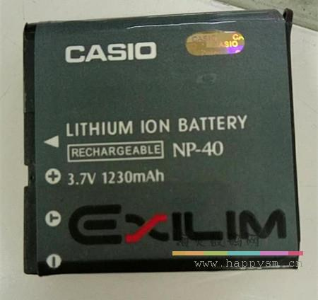 卡西欧 LITHIUM ION BATTERY NP-40 3.7v 1230MAH